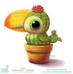 Daily Paint 1813# Bird Cacti - Toucan