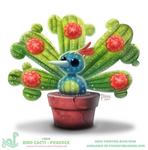 Daily Paint 1814# Bird Cacti - Peacock
