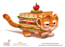 Daily Paint 1817# Cub Sandwich by Cryptid-Creations