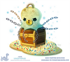 Daily Paint 1818# Locktopus by Cryptid-Creations