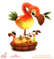 Daily Paint 1821# Flamango by Cryptid-Creations
