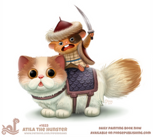 Daily Paint 1823# Atila the Hunster by Cryptid-Creations