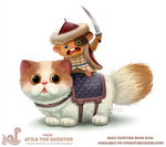 Daily Paint 1823# Atila the Hunster