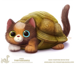 Daily Paint 1825# Tortiseshell