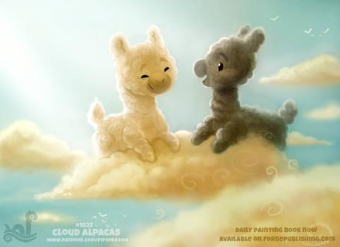 Daily Paint 1827# Cloud Alpacas