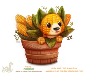 Daily Paint 1830# Corngi by Cryptid-Creations