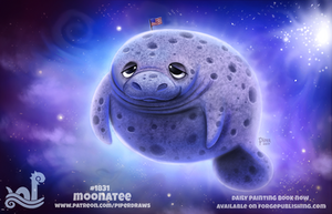 Daily Paint 1831# Moonatee by Cryptid-Creations