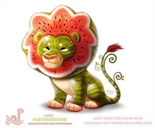 Daily Paint 1833# Watermelion by Cryptid-Creations
