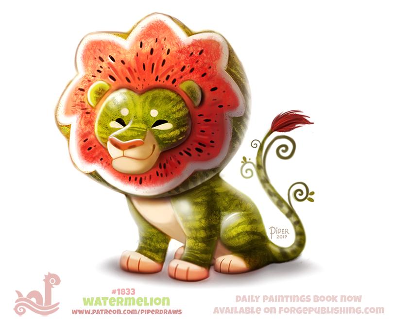 Daily Paint 1833# Watermelion