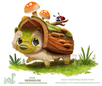 Daily Paint 1834# Hedgelog