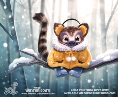 Daily Paint 1835# Winter Coati