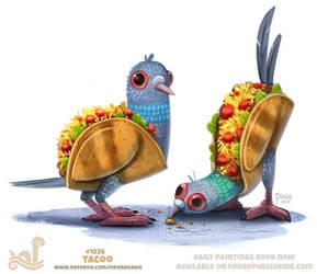 Daily Paint 1836# Tacoo