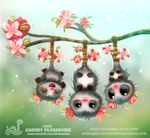 Daily Paint 1838# Cherry Plossums