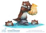 Daily Paint 1839# Otterly Shellfish