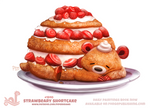 Daily Paint 1840# Strawbeary Shortcake