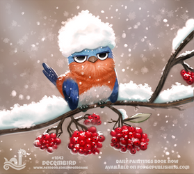 Daily Paint 1842# Decembird by Cryptid-Creations