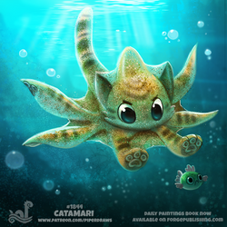 Daily Paint 1844# Catamari by Cryptid-Creations