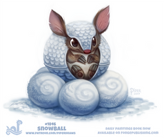Daily Paint 1846# Snowball
