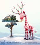 Daily Paint 1849# Candycane Giraffe