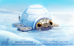Daily Paint 1853# Igloo Turtle