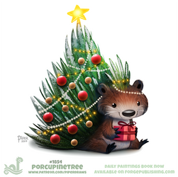 Daily Paint 1854# Porcupinetree by Cryptid-Creations