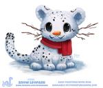 Daily Paint 1855# Snow Leopard