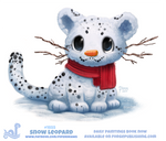 Daily Paint 1855# Snow Leopard