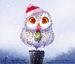 Daily Paint 1856# Snowy Owl