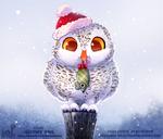 Daily Paint 1856# Snowy Owl