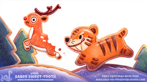 Daily Paint 1858# Saber Sweet-Tooth