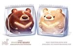 Daily Paint 1863# Moonpie Bears