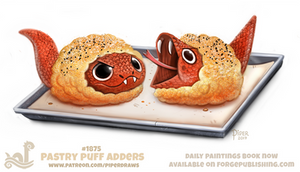 Daily Paint 1865# Pastry Puff Adders by Cryptid-Creations