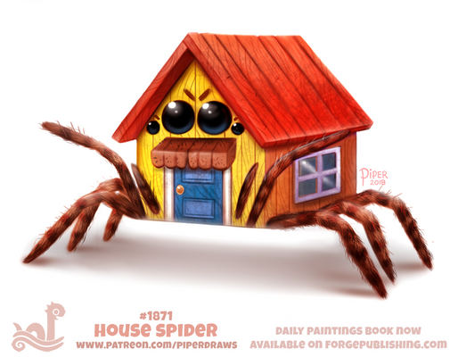 Daily Paint 1871# House Spider