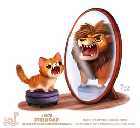 Daily Paint 1876# Mirroar by Cryptid-Creations