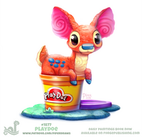 Daily Paint 1877# Play-doe by Cryptid-Creations