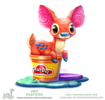Daily Paint 1877# Play-doe