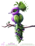 Daily Paint 1878# Plum-age