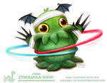 Daily Paint 1880# Cthulhula-hoop