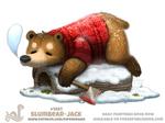 Daily Paint 1881# Slumbear-Jack