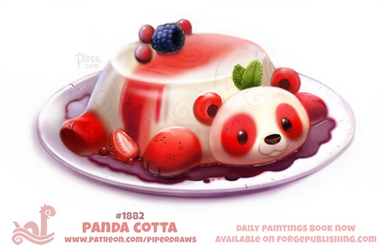 Daily Paint 1882# Panda Cotta by Cryptid-Creations
