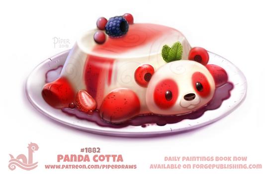 Daily Paint 1882# Panda Cotta