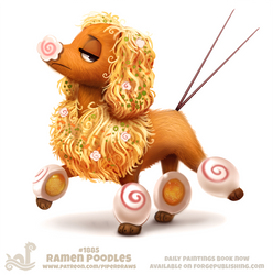Daily Paint 1885# Ramen Poodles
