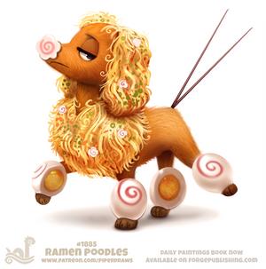 Daily Paint 1885# Ramen Poodles