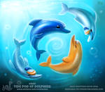 Daily Paint 1887# Tide Pod of Dolphins