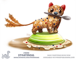 Daily Paint 1890# Stoatmeal by Cryptid-Creations