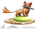 Daily Paint 1890# Stoatmeal
