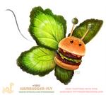 Daily Paint 1892# Hambugger-fly