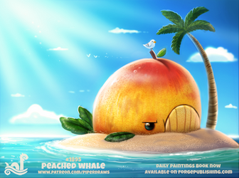 Daily Paint 1895# Peached Whale by Cryptid-Creations