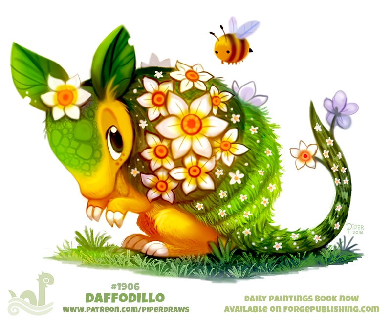 Daily Paint 1906# Daffodillo by Cryptid-Creations