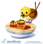 Daily Paint 1907# Birds Nest Soup
